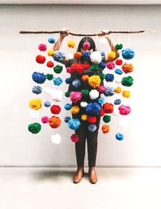 Pom Pom Backdrop: Kid inspired Cinco de Mayo party on the Handmade Childhoods blog by Fleur + Dot Fashion, Art, Design, Food + Style