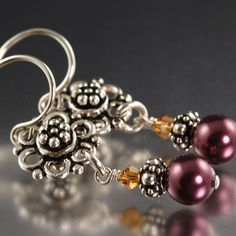Ready to Ship  Sterling silver bali flower by southpawstudios, $24.00