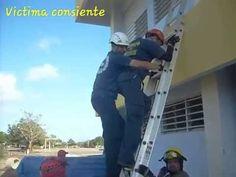 Rescate de victima en escalera