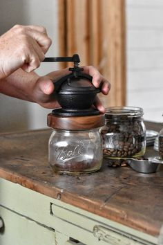Zero waste coffee - Camano Coffee Grinder made in the USA