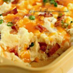 Loaded Twice Baked Potato Casserole @FoodBlogs