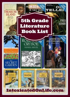 5th grade literature book list. Excellent resource for planning your homeschool year.