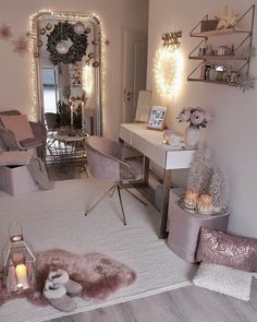Teen Bedroom Designs, Bedroom Decor For Teen Girls, Cute Bedroom Ideas, Cute Room Decor, Room Ideas Bedroom, Small Room Bedroom, Small Rooms, Bedroom Furniture, Nice Rooms
