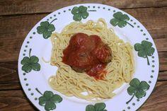 Lean & Mean Spaghetti and Meatballs  #healthy #recipes