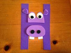 Pin It, Make It: Animal Alphabet: Letter H - Hippo