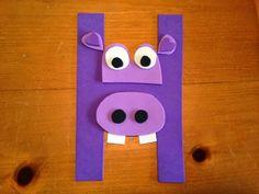Pin It, Make It: Animal Alphabet: Letter H - Hippo