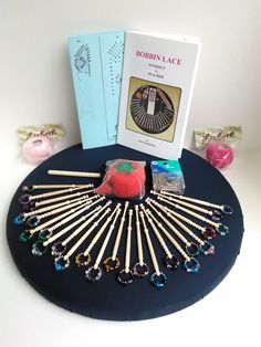 Bobbin Lace Kit with Spangled Bobbins