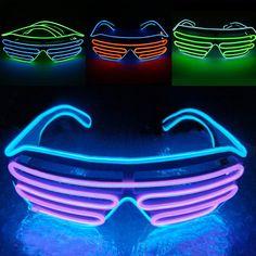 eedb3f554b3 Creative Blinking Led Light Up Flashing Glow Glasses Rave Festival Party  Decor   Garden