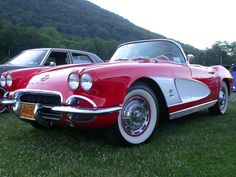 1962 Red Corvette - same age as my husband!!!  Classic for sure!