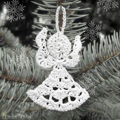 FREE CROCHET PATTERN Little Angel Christmas Ornament