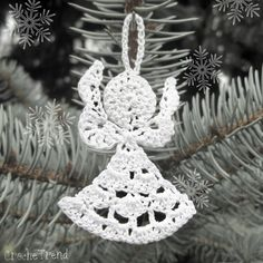FREE CROCHET PATTERN Little Angel Christmas Ornament