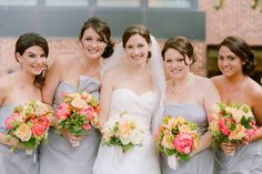 Like the bouquets, particularly of the bridesmaids  Source:http://adominick.com/services/weddings/