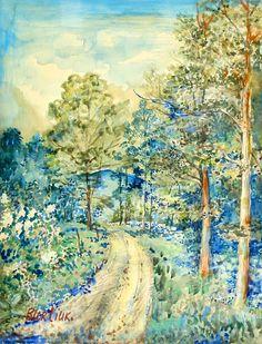 Landscape with Blue Mountain | David Burliuk