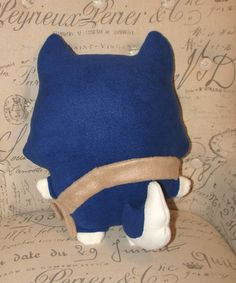 Stuffed Wolf with Tan Snap Pouch