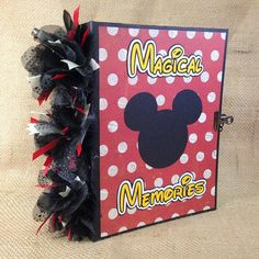The Mouse - Magical Memories premade scrapbook photo album