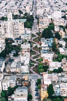 This Lombard Street aerial is pretty awesome. SF. San Francisco California by @parkmerced #sanfrancisco #sf