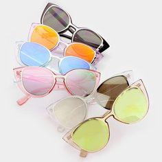 9da89eb01d8 Oversized Cutout Pastel Round Cat Eye Sunglasses - Millie - Dempsey    Gazelle Fashion Tips