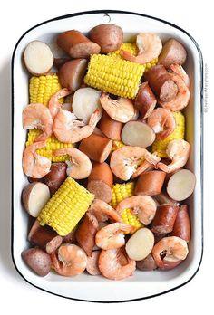Low Country Boil Recipe shewearsmanyhats.com #beaufort #stew #shrimp #boil