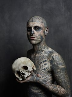 zombie boy rick genest photo Joey L tattoo Frank Lewis