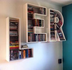 8 Amazing Bookshelf Design Ideas – Essential Furniture In Your Home Bookshelf Design, Bookshelves, Book Racks, Home Theater, Decoration, Shelving, Furniture Design, Interior Decorating, Sweet Home