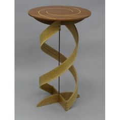 Double Helix Plant Stand custom made by Danchak Woodworks, Llc Double Helix, Steel Rod, Wedding Cake Inspiration, Creative Decor, Wrought Iron, Planter Pots, Artisan, Center Point, Woodworking