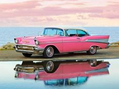 Pink 1957 Chevy Bel-Air