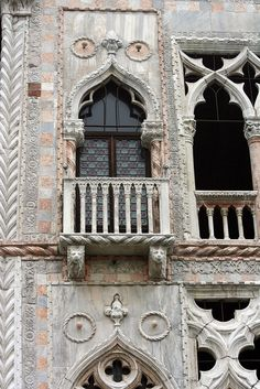 Ca' d'Oro is a palace on the Grand Canal in Venice