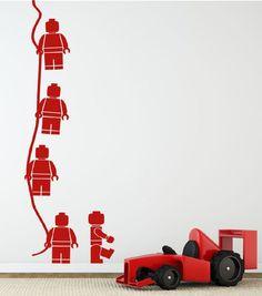 Lego minifig aan touw