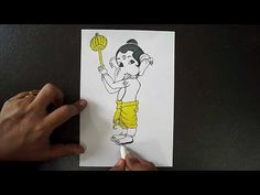 Bal Ganesh Drawing Easy Step By Step Ganesha Drawing, Ganpati Bappa, Lord Ganesha, Drawing For Kids, Easy Drawings, Make It Yourself, Hoe, Fictional Characters, Color