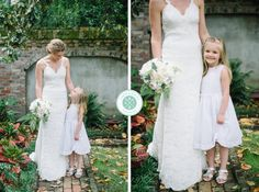 Bride with the flower girl // Aaron and Jillian Photography » Husband and Wife International Wedding Photographers based in Charleston, South Carolina.