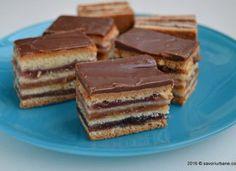 Prajitura Gerbeaud este o… Romanian Desserts, Romanian Food, Romanian Recipes, My Recipes, Cake Recipes, Food Cakes, Something Sweet, Tiramisu, Sweets