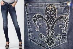 Miss-Me-Jeans-Jegging-Fleur-De-Lis-JE5033GL-Vintage-49-Wash-Color-Size-29-MINT