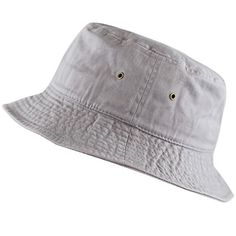 842799f6850 The Hat Depot 300N Unisex 100% Cotton Packable Summer Tra... Bucket Hat