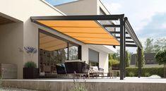 Pergola With Roof Design - - - - Pergola Moderne Roof Diy Pergola, Pergola Curtains, Metal Pergola, Pergola With Roof, Covered Pergola, Pergola Shade, Patio Roof, Pergola Kits, Black Pergola