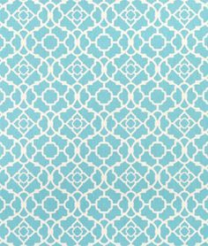 "Waverly Lovely Lattice Aqua Fabric  $15.15per yard (1 to 9 yards)  Material: 100% Cotton Sateen  Width: 54""  Horizontal Repeat: 4.5""  Vertical Repeat: 4.5"""
