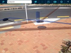 Auckland Council water infrastructure displayed using Augview Augmented Reality view. This image has been captured as a screenshot.