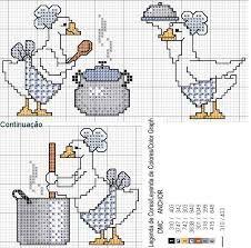Resultado de imagen para patos em ponto cruz