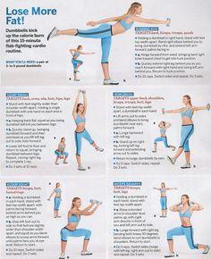 15 min cardio routine w/ weights