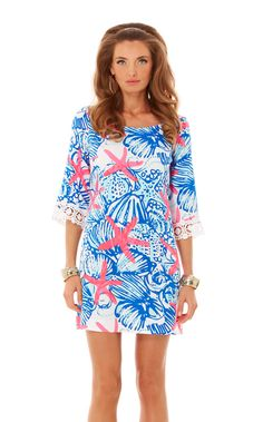 Harbour Tunic Dress.  Note lace edged sleeves.