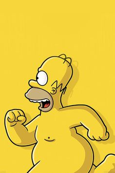 FreeiOS7 | ab22-wallpaper-catch-homer-if-you-can-homer-simpsons-illust | freeios7.com