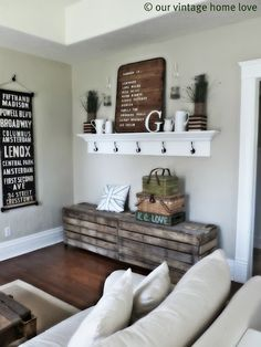 """Our Vintage Home Love"" blog...great ideas on this blog for comfortable, simple style on a budget."