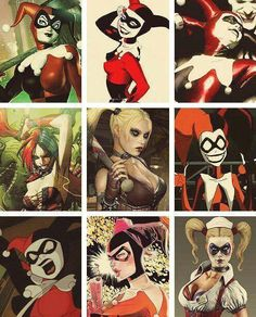 The many faces of Harley Quinn