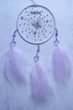 Butterfly Personalised Dreamcatcher Lilac