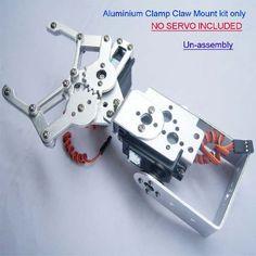 Garra Robotica Articulado Pra Arduino Pic Raspberry Atmel - R$ 165,00