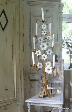 wonderful french antique church candelabra