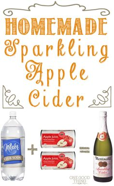 Super Simple Homemade Sparkling Apple Cider