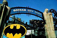 BATMAN The Ride en 1992. Historica foto de la primera invertida de #B #sixflags