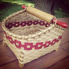 Red-Handled Rolling Pin Basket by JoannasCollections on Etsy