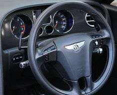 Black carbon steering wheel