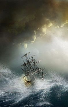 Disclaimer~ Pictures that I find scenic/creative not my own unless. Moby Dick, Pirate Boats, Sea Storm, Old Sailing Ships, Ship Drawing, Ship Paintings, Ghost Ship, Stormy Sea, Ship Art